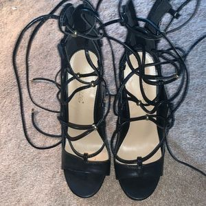 lace up 6' inch heels